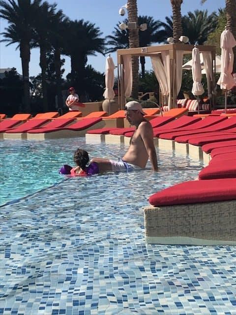 The pool at the Red Rock Resort in Las Vegas