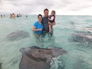 The Tucker Family visiting Grand Cayman