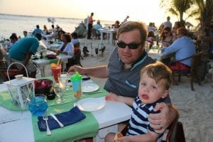 Enjoying a meal in Aruba