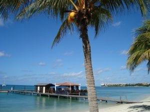 A beach on the island of Aruba