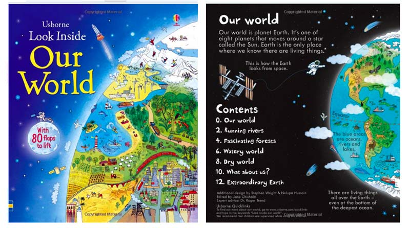 Look Inside Our World from the Usborne Series Book Cover-Top Travel Books for Little Kids