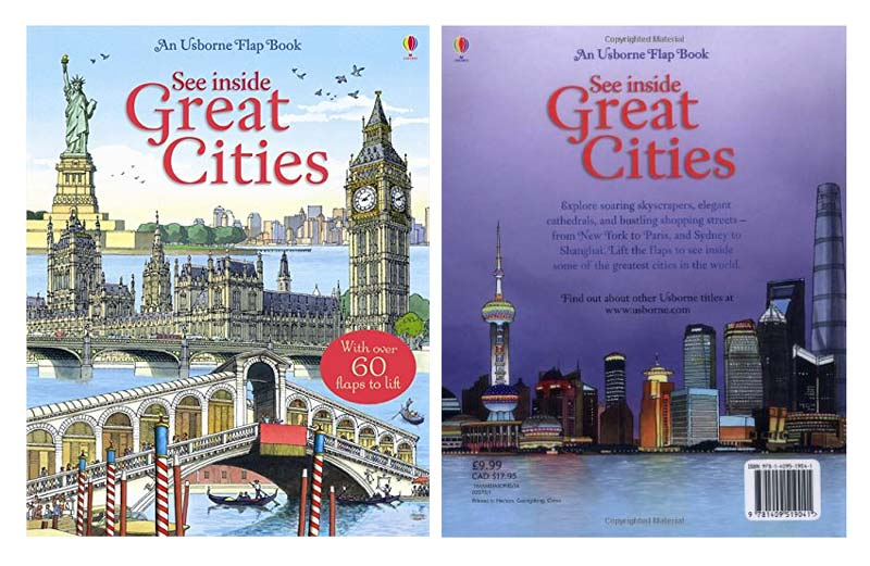 See Inside Great Cities from the Usborne Series-Book Cover-Top Travel Books for Little Kids