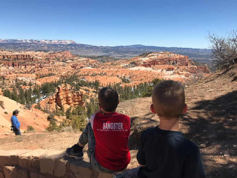 Overlooking the mountains in Bryce, Zion and Bryce Kids