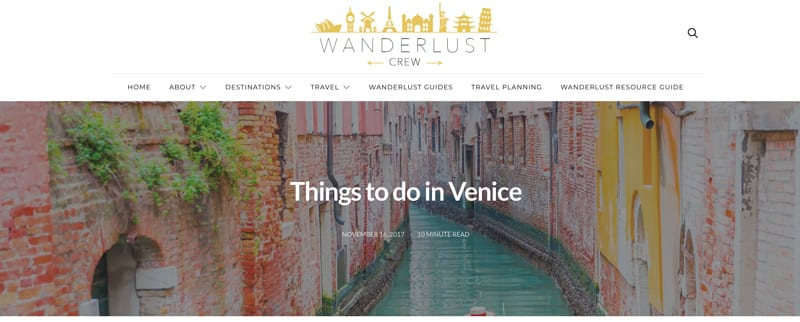 "Website snapshot- Wanderlust Crew's ""Things to do in Venice with Kids"""