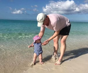 father daughter on the beach