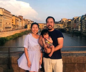Family with a baby in Florence