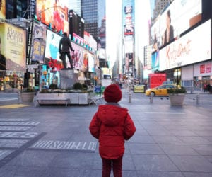 kid in Time Square