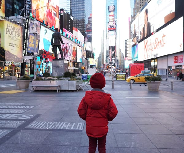 kid in Time Square